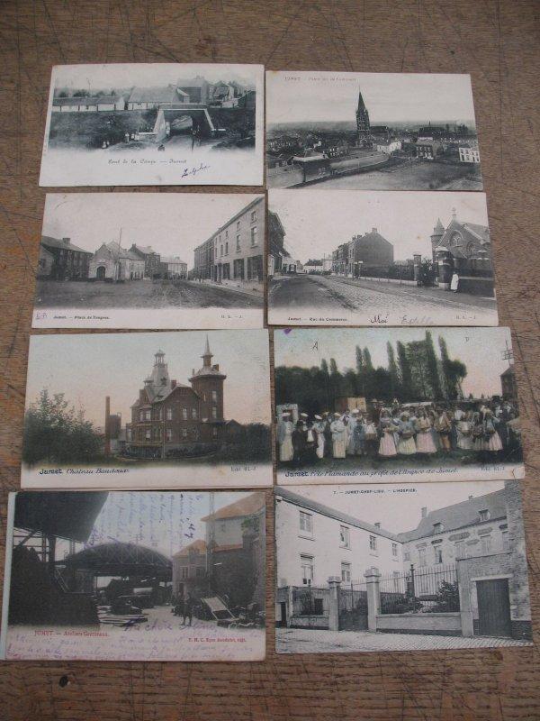 13: Cartes postales Belgique. Jumet. 15 cp début XXe