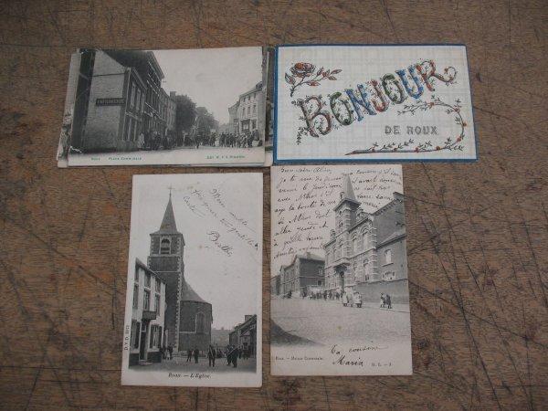 16: Cartes postales Belgique Roux 8 cp