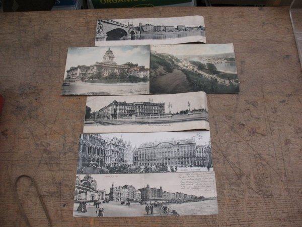 17: Cartes postales Belgique 4 cp panoramiques