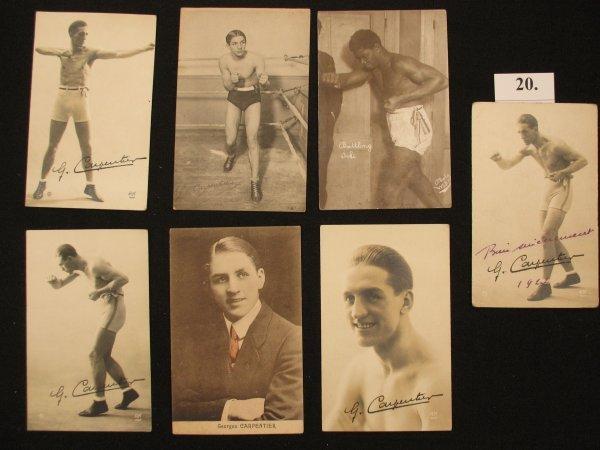 20: Carte postale postcard Boxe George Carpentier