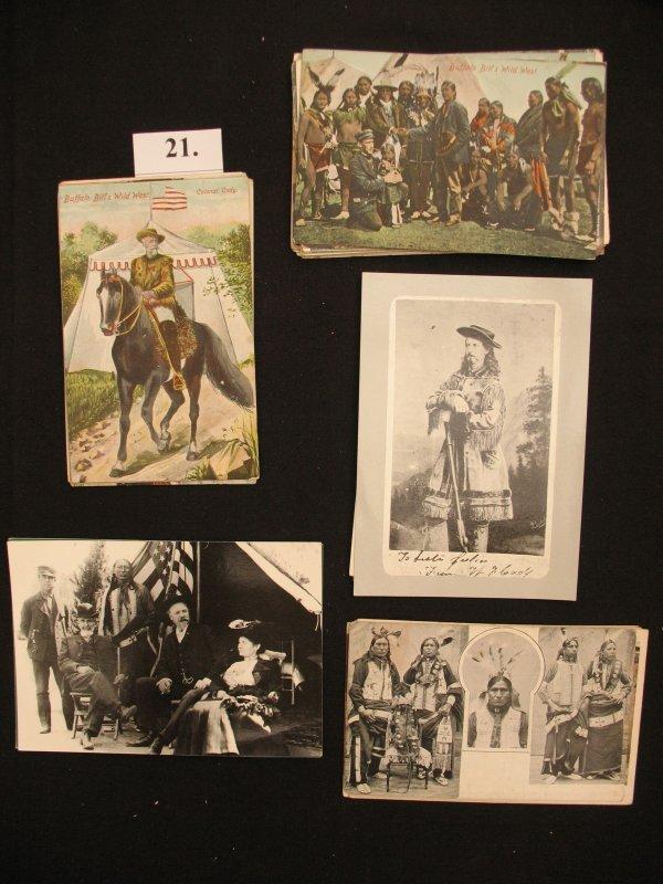 21 Buffalo-Bill American Wild West Show Postcard cp