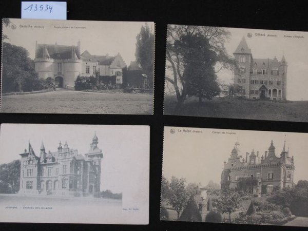 1004: Brabant. cartes postales châteaux kastelen