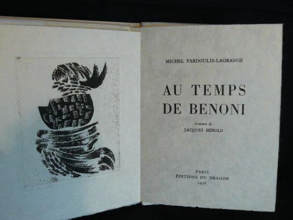 1245: FARDOULIS-LAGRANGE Michel Au Temps de Benoni Jacq