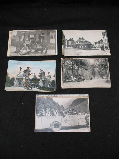 15: Automobiles cartes postales attelages de chiens