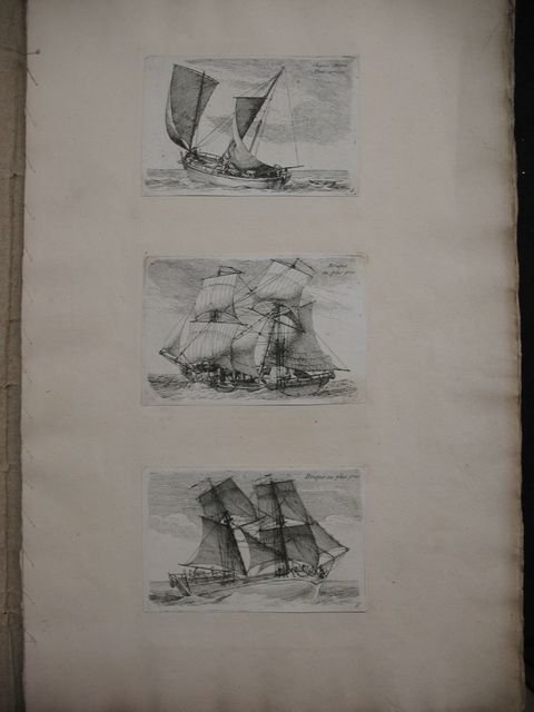 57: vaisseaux frégates corvettes ships prints gravures