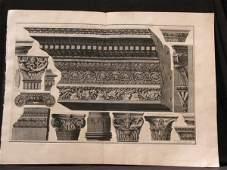 71: Architecture PIRANESI Supra valvas Gravure Print