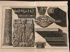 72: Architecture PIRANESI colonnes gravure print
