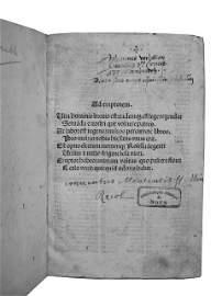 471: [Incunable] SALIS S. TROVAMALA, Baptista de  - Ros