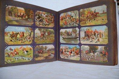 9: Chasse. Environ 250 cartes postales, époques diverse