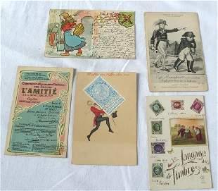 Fantaisie & Étranger. Environ 500 cartes postales,