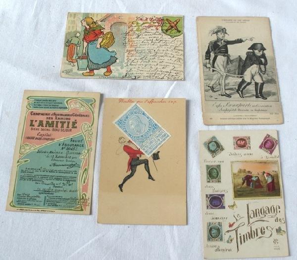 18: Fantaisie & Étranger. Environ 500 cartes postales,