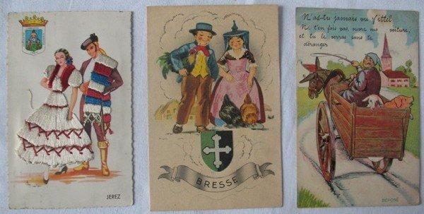 19: Fantaisie & Étranger. Environ 1100 cartes postales,