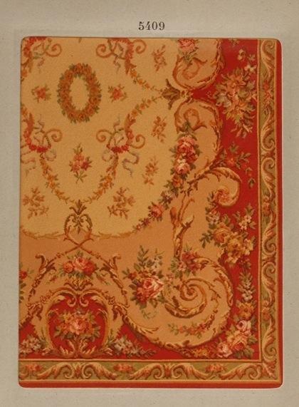240: [Tapis] Esquisses des carpettes Aubusson et Savonn