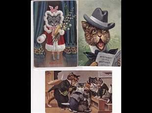 Fantaisie. Chats. Environ 220 cartes postales.