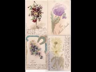 Fantaisie. Fleurs. Environ 120 cartes postales anci