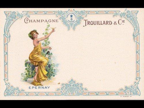 12: Fantaisie. Cartes postales-Menu «Champagne Trouilla
