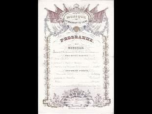 [Cartes Porcelaine] Programme. Musique du 12e Régim