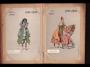 Tournois de chevalerie. 80 cartes postales.