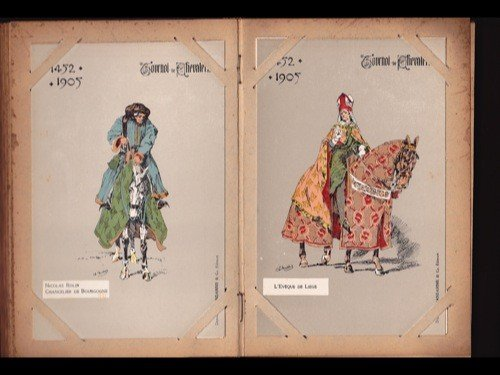 18: Tournois de chevalerie. 80 cartes postales.