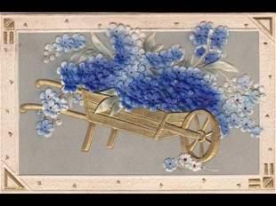 Fantaisie: fleurs. Environ 70 cartes postales.