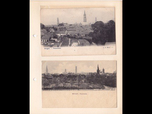 7: Bruges. Environ 150 cartes postales réunies dans 3 c
