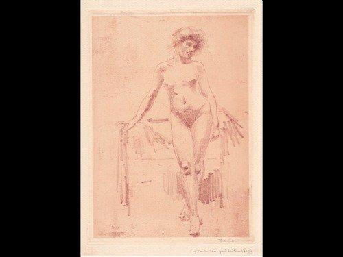 136: Armand RASSENFOSSE (LIèGE, 1862 - 1934) - Nu, 1904