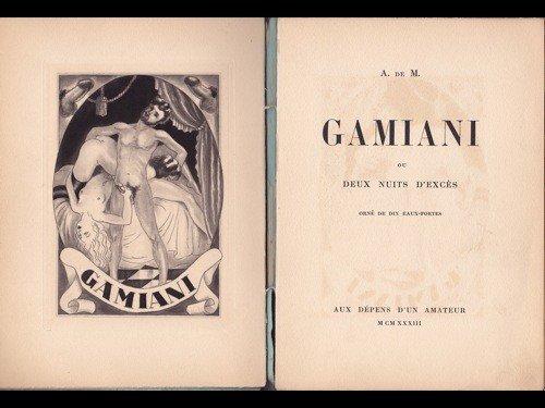 449: [Alfred de MUSSET A  DE M  ]- Gamiani ou Deux nui