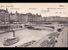 Autriche. Essentiellement Vienne. Environ 125 Carte