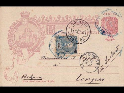 23: [Afrique] Angola. 19 entiers postaux dont 7 oblit