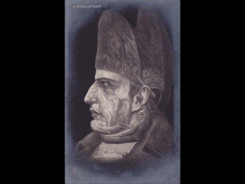 Napoléon Ier. Bismarck. 2 cartes postales réalisées à p