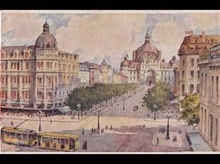 Villes belges. Cartes postales illustrées d'après Ranot