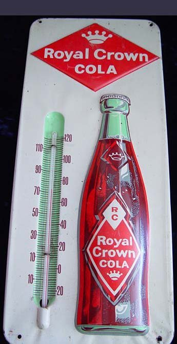 3A: Royal Crown Cola Sign Advertising Thermometer
