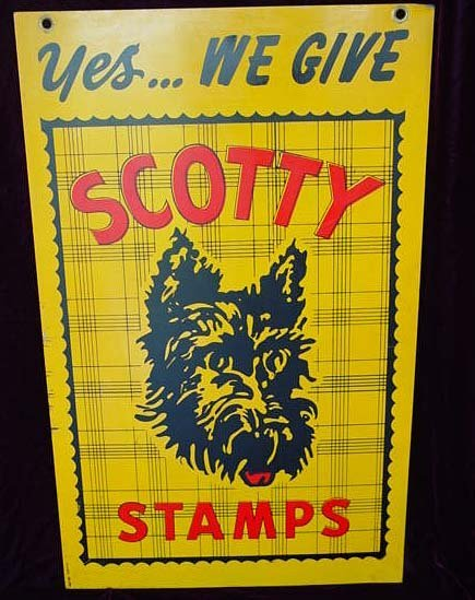 3B: Old Scotty Dog Stamps Steel Sign
