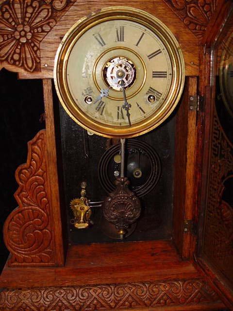 124: E. Ingraham Itasca Antique Clock - 2