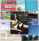BUGATTI Mixed lot of 6 books, in German and in French,