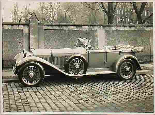 Original B/W press photo Mercedes-Benz type S with