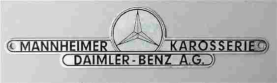 MERCEDES-BENZ Sign Mannheim car body Daimler-Benz AG,