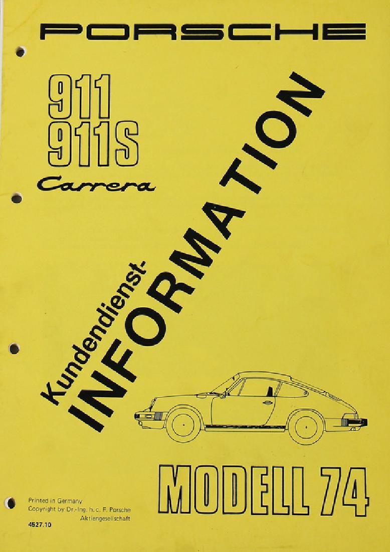 PORSCHE Customer service information for Porsche 911,