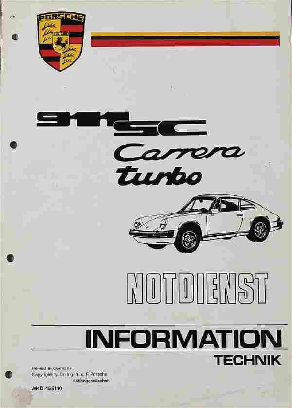 PORSCHE Technical Information, emergency service for