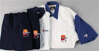 PORSCHE/REPSOL Team clothing 4 pieces for the use in Le