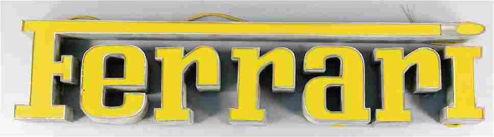 FERRARI Neon sign/illuminated advertising, '60s/'70s,