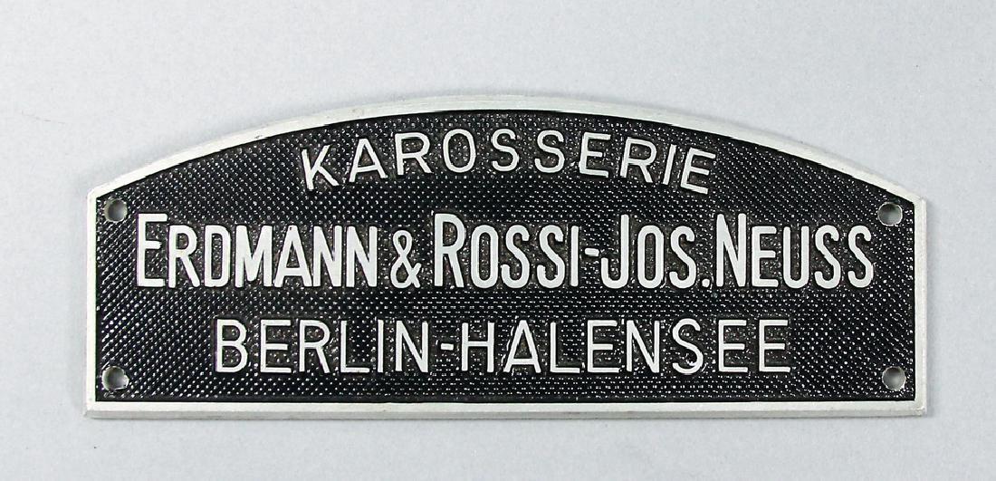 ERDMANN & ROSSI Original car body badge Erdmann &