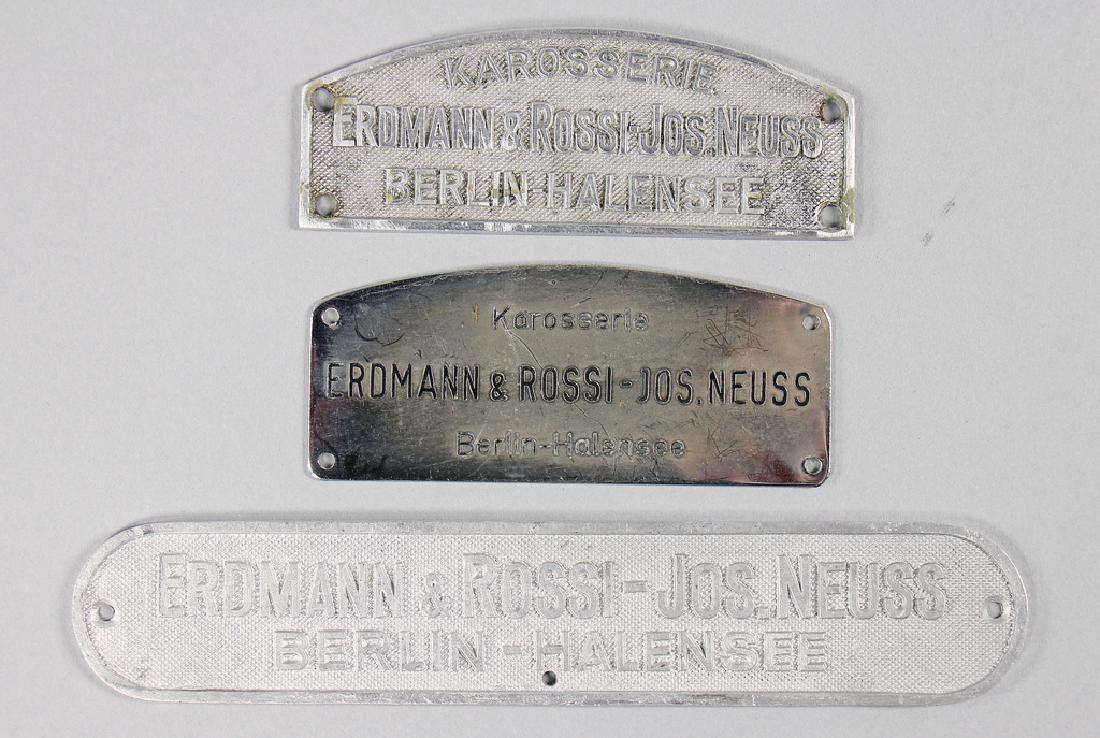 ERDMANN & ROSSI Mixed lot with 3 original emblems for