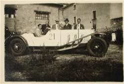 Original B/W press photo of a Mercedes-Benz type SS