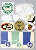 PORSCHE Mixed lot with 14 pieces, among them sticker