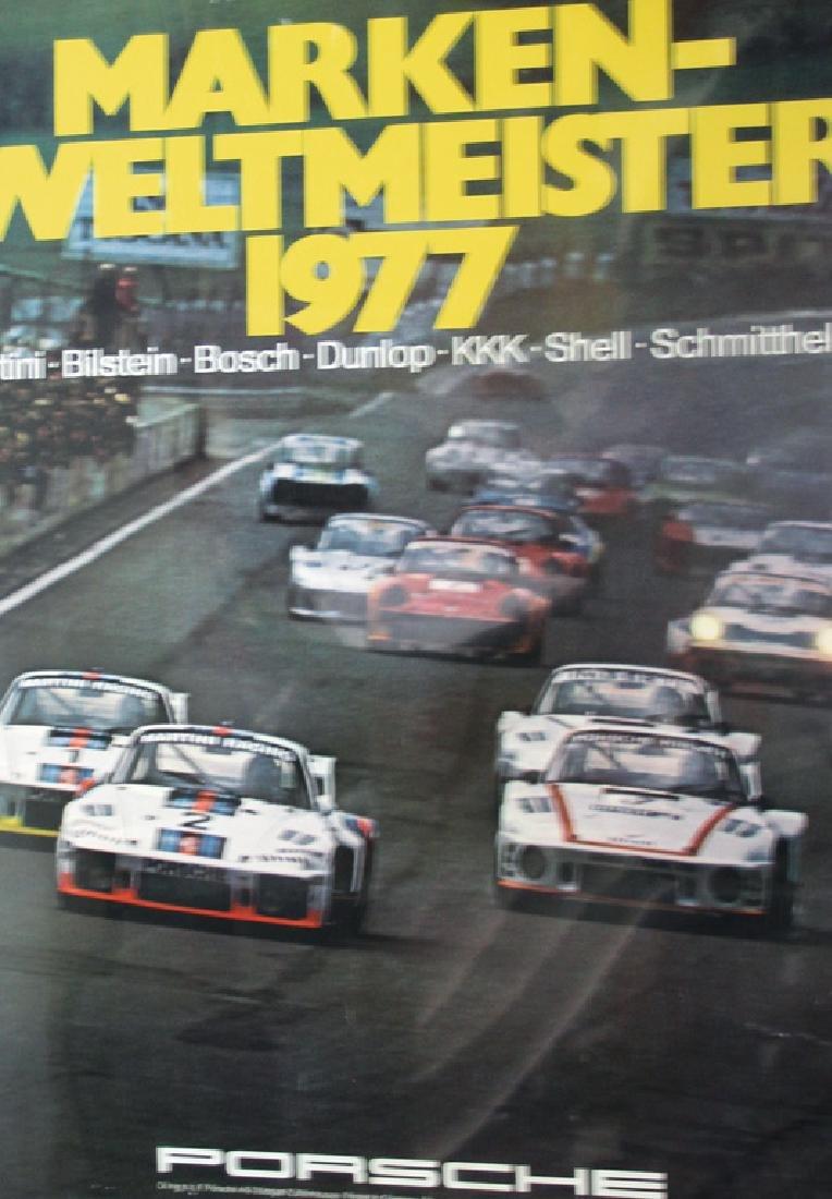 PORSCHE Racing poster manufacturer's rally world