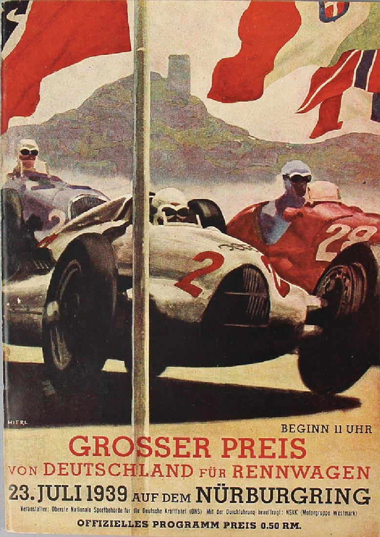 programme booklet Grand Prix of Germany 1939, good