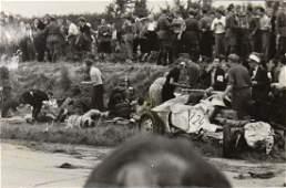 Grenzlandring-race 1952, photo crash scene with