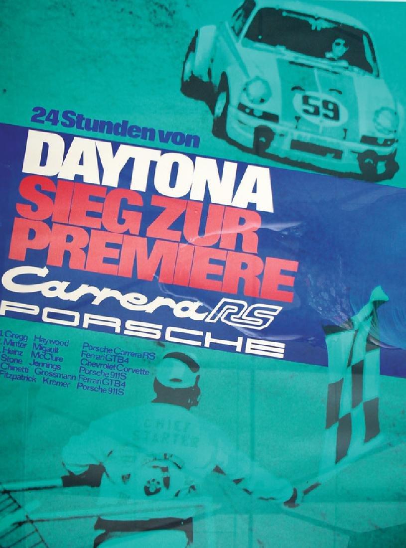 PORSCHE Porsche racing poster (framed), 24 hours of