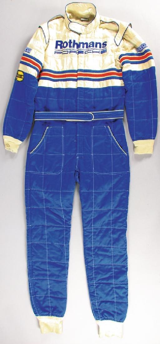 PORSCHE/ROTHMANS Sparco race suit, '80s, in the colors